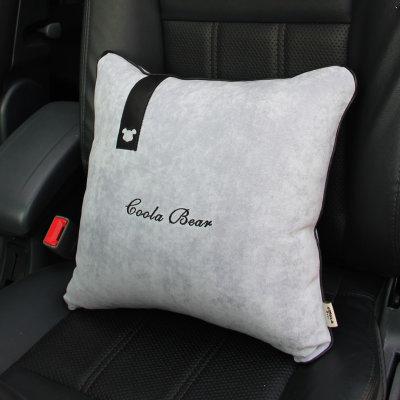 拉蒂菲简约商务1602 汽车内饰用品 四方抱枕 腰靠腰垫
