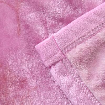 凡居舍 金貂绒毯 毛毯 法莱绒床单 毯子 加厚珊瑚绒毯(百合花毛毯 150