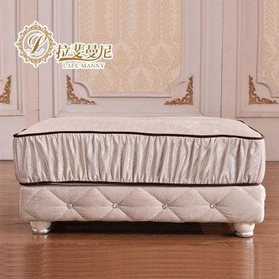 欧式布艺沙发 法式实木沙发客厅成套家具组合fs035(f款 1 3 左妃)
