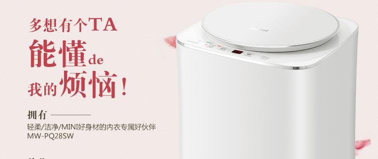 海尔(haier) mw-pq28sw 0.8公斤 迷你洗衣机